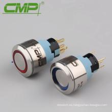 22mm Anillo LED 12v Interruptor de apagado momentáneo