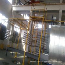 ligne de poudrage automatique en aluminium avec prétraitement
