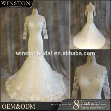 Robe de mariée à la mode traditionnelle de luxe et de luxe de haute qualité