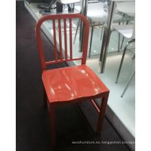 Diseño simple Orange Metal restaurante sillas para venta por mayor (FOH-BCC13)