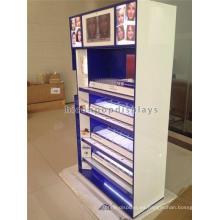 Equipo de publicidad Tienda de cosméticos Venta al por menor Quiosco de acrílico y madera Diseño Kiosco de maquillaje de piso