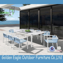 Outdoor Aluminium extension table dining chairs