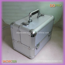 Silver Striped ABS Surface Aluminum Portable Makeup Vanity Case (SACMC028)