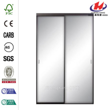 Silhouette Mystique Glass Satin Clear Finish Aluminum Door