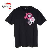 T-shirt escuros projetados projeto do algodão do PNF do algodão (LWC-287)