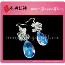 Blue Ocean Sea World Tropfen Drop Crystal Diamond Ohrringe