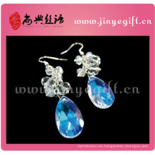 Blue Ocean Sea World Tear Droping pendientes de diamantes de cristal