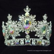 Tiara del desfile impresionante para la corona y las tiaras retras calientes decorativas de la reina