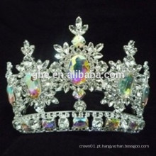 Tiara de desfile impressionante para decorativas jóias de coroa e tiaras