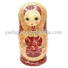 modelos muy jóvenes Wood Hand Print Craft Doll