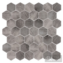 Hexagon Wood Look Hexagon Tile Mosaic