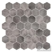 Мозаика из шестиугольной плитки с шестигранной отделкой под дерево