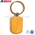 Cheap promotional gifts wood keychain