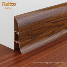 P60-A, Cheap PVC Skirting Board Baseboard for Wholesale