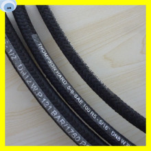 Auto Oil Textil Cover Rubber Hydraulic Hose R5