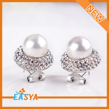 New Fashion Jewelry Crystal Pearl Earrings Wholesale