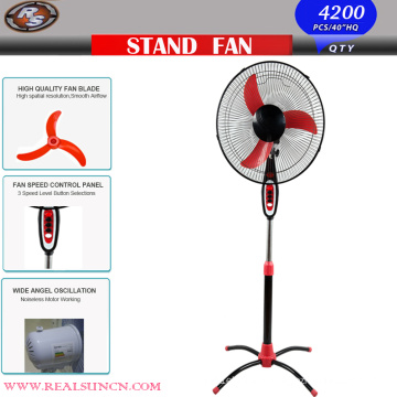 OEM 16inch Standing Fan with Ox Banana Blade