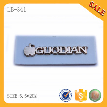LB341 Wholesale custom brand leather label handmade/white branded leather patch making/clothing brand labels logo