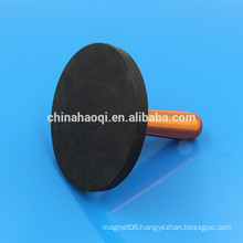 48KG load NdFeB permanent round rubber magnet