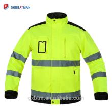 Chaquetas de invierno de alta visibilidad de OEM Chaqueta reflectante de trabajo Workwear de alta visibilidad