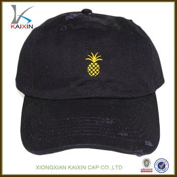 выдвиженческий изготовленный на заказ дешевые изношенного 6 панелей brim краткости высокого качества вышивка спортивных сэндвич черный бейсбол жесткий крышка шляпа