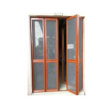 foshan wanjia novo design mosquiteiro portas dobráveis