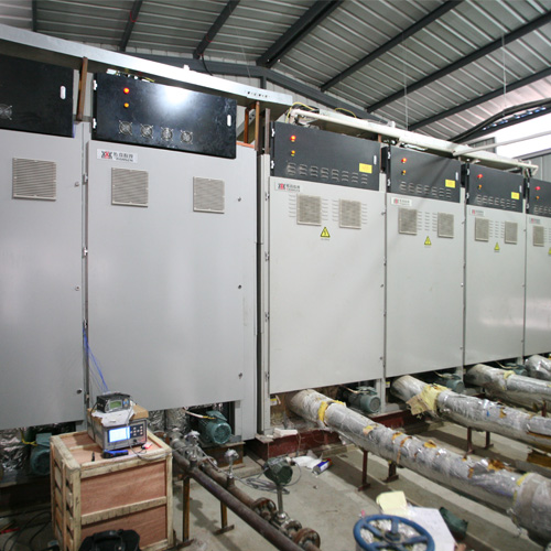 Wind power electric heat storage system