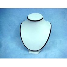 White and Black Leather Jewelry Display Necklace Holder (NS-WB-TS1)