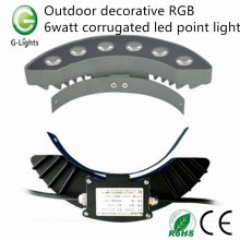 Outdoor decorative RGB 6watt corrugated led point light