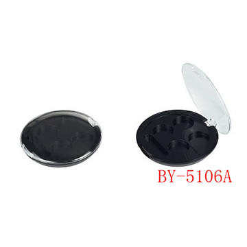 3 Round Black Eyeshadow Container