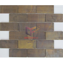 Strip 48*98 Copper Metal Mosaic Tile (CFM963)