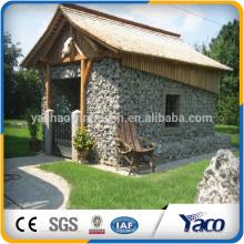 Selo de pedra cinzento da parede de retenção da gaiola do PVC para o solo, cesta do gabion do fio de aço inoxidável