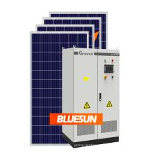 Bluesun 30кВт солнечной системы стоит во Франции 30кВт трехфазный инвертор небольшой размер на крыше монтажа бытовой электроприбор