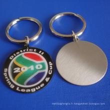 Porte-clés en acier inoxydable Kechain Badge avec médaille (GZHY-KC-001)
