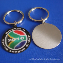 Kechain Badge Stainless Steel Key Ring with Medal (GZHY-KC-001)