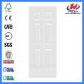 JHK-006 6 Panel  MDF Wood Grain  White Primer Door Skin