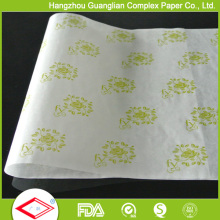 Papel imprimindo 38g impregnado do papel de envolvimento do sanduíche do Hamburger
