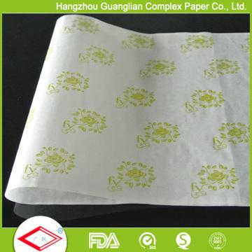 O logotipo feito sob encomenda imprimiu o envolvimento de alimento das folhas do pergaminho da Não-vara do papel de cozimento