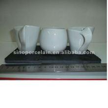 Porcelaine blanche en chocolat 4pcs pour BS120418A