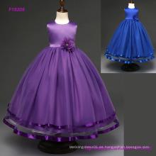 Vestidos de boda de los niños de la moda Pupular Vestir de fiesta de verano de los vestidos de las flores de las muchachas del arco