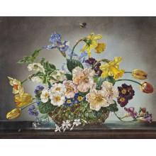 Peinture à l'huile de fleurs modernes sur toile