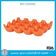 Fabriqué à la main en gros plateau d'oeufs orange