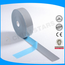Maßgeschneiderte Logo Silber Farbe Wärmeübertragung reflektierende Band