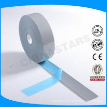 Logotipo personalizado prata cor transferência de calor fita reflexiva