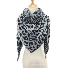 Women Winter Warm Cashmere Scarf Fashion Leopard Printing Triangles Wrap Long Shawl And Stole Cape Scarves