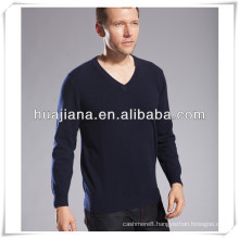 100% cashmere men's flat knitting sweater
