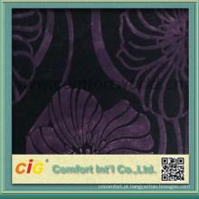para chinês de veludo do sofá tecido poliéster/algodão