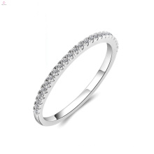 Wedding Engagement Diamond Zircon S925 Anillo de eternidad de plata