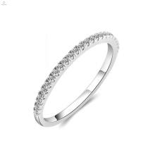 Wedding Engagement Diamond Zircon S925 Anillo de eternidad de plata