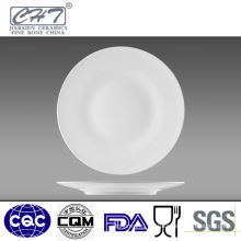 "7.5"" High quality hotel unique white porcelain serving plate"